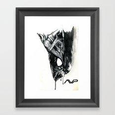 Alien Head Side Framed Art Print
