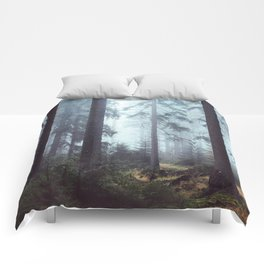 Foggy Forest Comforters