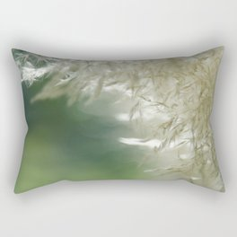 Wispy over green Rectangular Pillow