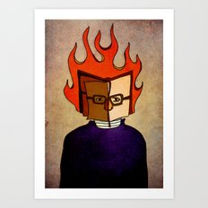 Prophets of Fiction - Ray Bradbury /Fahrenheit 451 Art Print