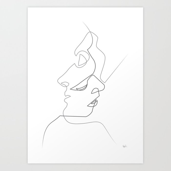 Close on white Kunstdrucke