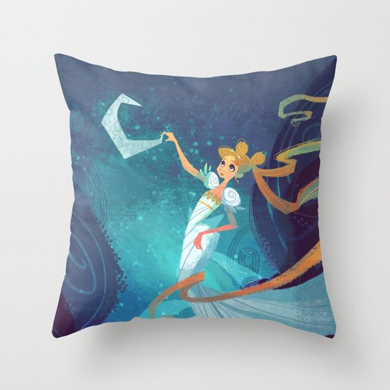 Serenity on the Moon Throw Pillow