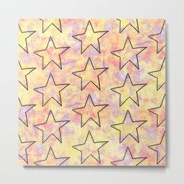 Stars Pattern #4 Metal Print
