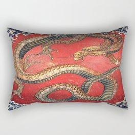 Dragon by Hokusai Rectangular Pillow