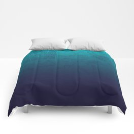 Blue Ombre Map Comforters
