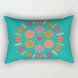 Dia da Terra Rectangular Pillow