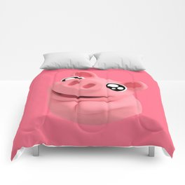 Rosa the Pig Looking Cute Comforters