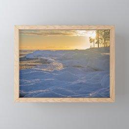 Freezing sea, Finnish gulf Framed Mini Art Print