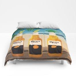 Greedy - Corona Ad Painting Comforters