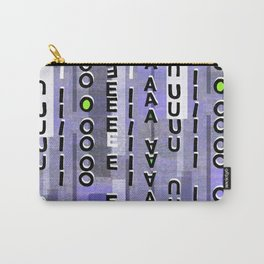 Indigo Vowels Carry-All Pouch