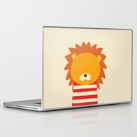 lion Laptop & iPad Skins featuring Lion by UiNi