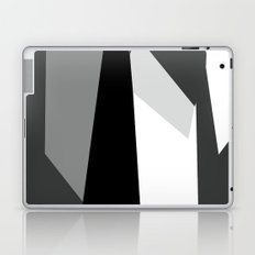 Black White and Gray Abstract Laptop & iPad Skin