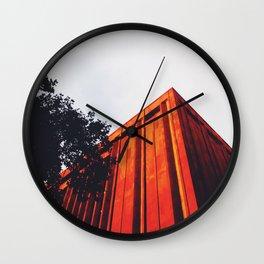 New York Orange Wall Clock