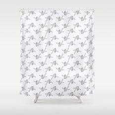 Senbazuru One Thousand Origami Cranes Shower Curtain