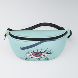 Creepy Red Eye With Ants Fanny Pack
