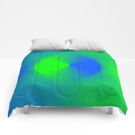 Blue and Green Burst Comforters