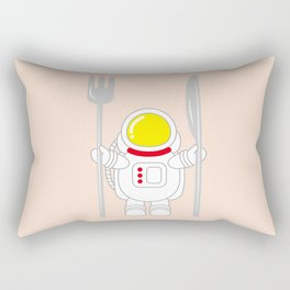 Space Odyssey | Astronaut Eats | Space Utensils | Galaxy Fork and Knife | pulps of wood Rectangular Pillow