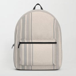 Simple Farmhouse Stripes in Gray on Beige Backpack