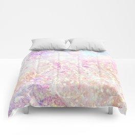 Blush Aqua Gold Fleck Marble Comforters