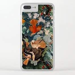 Birds and snakes Clear iPhone Case
