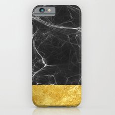Black Marble and Gold iPhone 6 Slim Case