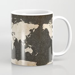 World Map - Ink lines Coffee Mug