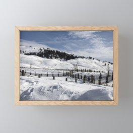 Carol M Highsmith - Snow Covered Hills Framed Mini Art Print