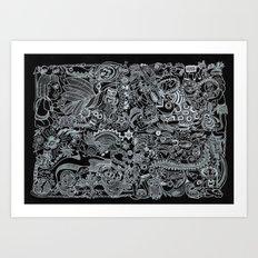 Ancient Figures II Art Print