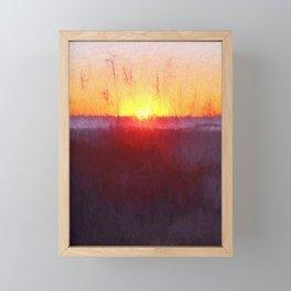 Florida Beach Scene #1 Framed Mini Art Print