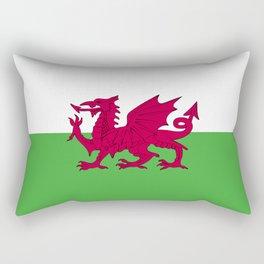 Wales flag emblem Rectangular Pillow