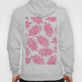 Modern girly pink botanical tropical leaves Hoody