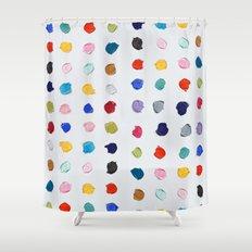 Polka Daubs Shower Curtain