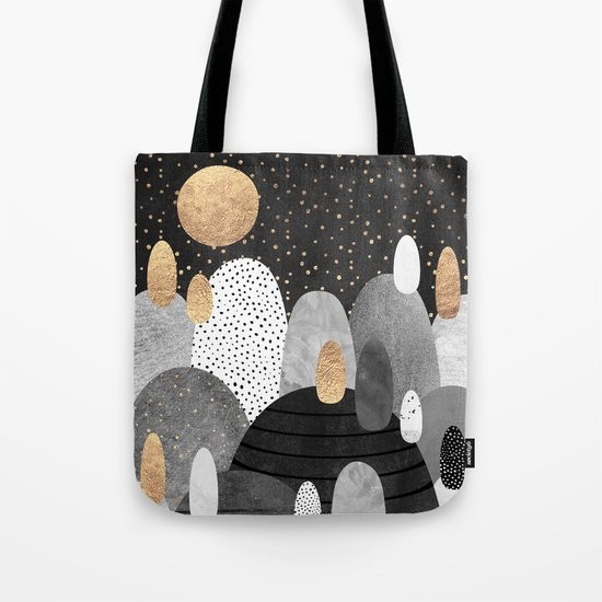 Little Land of Pebbles / Night Tote Bag