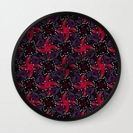 Dark Refined Luxury Pattern Wall Clock