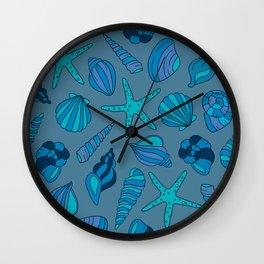 blue summer Wall Clock