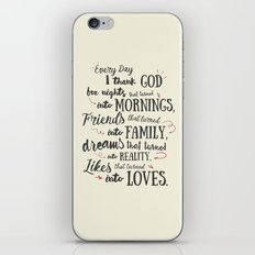 Thank God, every day, quote for inspiration, motivation, overcome, difficulties, typography, illustr iPhone & iPod Skin
