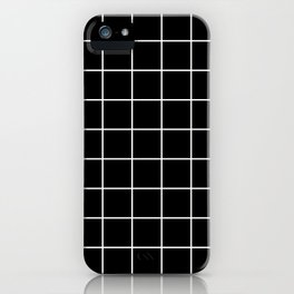 Square Grid Black iPhone Case
