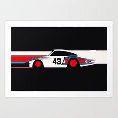 Moby Dick - Vintage Porsche 935/70 Le Mans Race Car Art Print