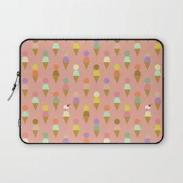 Ice Cream Cone Pattern Pink Robayre Laptop Sleeve