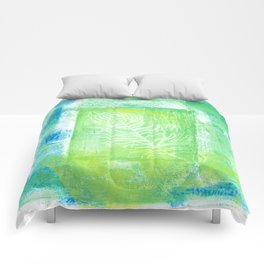 blue & green peacock Comforters
