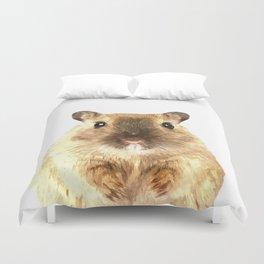 Hamster Portrait Duvet Cover