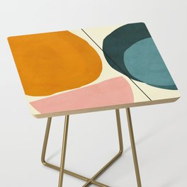 shapes geometric minimal painting abstract Side Table