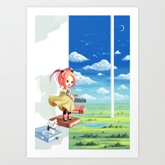 Tower of Wisdom Art Print