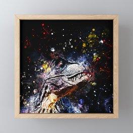 tyrannosaurus rex wsstd Framed Mini Art Print