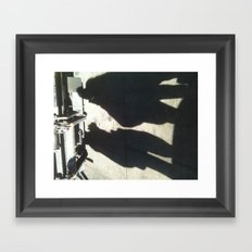 the shadows are more real than we are? Framed Art Print