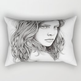 JennyMannoArt Graphite drawing Rectangular Pillow