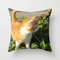 bill Throw Pillows featuring Bill by aintevenconcerned