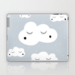 clouds and dots Laptop & iPad Skin