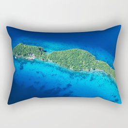 Romantic, Secret Island in Palau: Heaven's View Rectangular Pillow