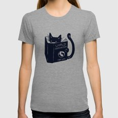 World Domination For Cats Womens Fitted Tee MEDIUM Tri-Grey